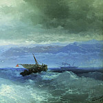 Ivan Konstantinovich Aivazovsky - Caucasus Mountains to the Sea 1899 59h94