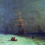 Ivan Konstantinovich Aivazovsky - Storm on the North Sea in 1875 47h63