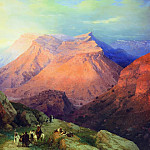 Aul Gunib in Dagestan. View from the east side 133h169 1869, Ivan Konstantinovich Aivazovsky