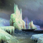 Ivan Konstantinovich Aivazovsky - Icy Mountains in Antarctica in 1870 110,5 h130, 5