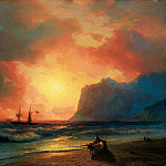 Ivan Konstantinovich Aivazovsky - Sunset at Sea 1866