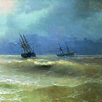Surf the Crimean coast in 1892 130h217, Ivan Konstantinovich Aivazovsky