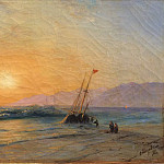 Ivan Konstantinovich Aivazovsky - Sunset at Sea 1898
