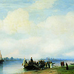 Ivan Konstantinovich Aivazovsky - Arrival of Peter I on the Neva 1853 94h138