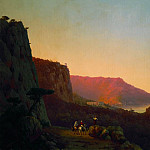 Ivan Konstantinovich Aivazovsky - Evening in the Crimea. Yalta 1848 126h196