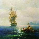 Ivan Konstantinovich Aivazovsky - After the storm 1854 91h65