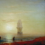 Ivan Konstantinovich Aivazovsky - Sunset at Sea 1848 36h43