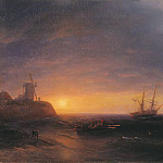 Ivan Konstantinovich Aivazovsky - Sunset at Sea 1878
