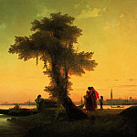 Ivan Konstantinovich Aivazovsky - View on the Venetian Lagoon 1841 76h118