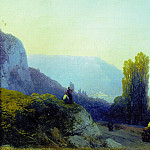 Ivan Konstantinovich Aivazovsky - On the way to Yalta 1860 19,8 h27. 7