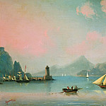 Sea Straits to the lighthouse in 1841 48,5 x60, Ivan Konstantinovich Aivazovsky