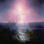 Death ship Lefort. Allegory of 1858 102h81, Ivan Konstantinovich Aivazovsky