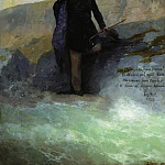 Ivan Konstantinovich Aivazovsky - A. Pushkin on the Black Sea 1897 186h141, 5
