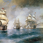Ivan Konstantinovich Aivazovsky - Brig Mercury Attacked by Two Turkish Ships