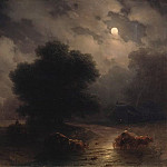 Ivan Konstantinovich Aivazovsky - Night in the Ukraine in 1871