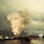 Ivan Konstantinovich Aivazovsky - Sea battle at Vyborg, June 29, 1790 1846 222h335