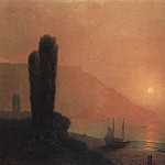 Ivan Konstantinovich Aivazovsky - Night in the Crimea in 1871 58h70, 5