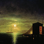 Ivan Konstantinovich Aivazovsky - Moonlight. Baths in Feodosia 1853 94h143