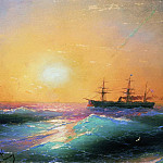Ivan Konstantinovich Aivazovsky - Sunset at Sea 1886 25,2 h33, 2