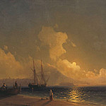 Ivan Konstantinovich Aivazovsky - Night on the Sea-2