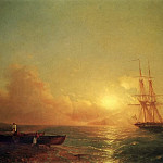Dvadtsatishesti-gun ship in the offing in 1852 95,5 h141, 5, Ivan Konstantinovich Aivazovsky