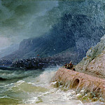 Ivan Konstantinovich Aivazovsky - surf off the coast of the Crimea in 1880 47h75