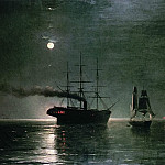 Ivan Konstantinovich Aivazovsky - Ships in the stillness of the night 1888 35h54