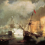 Sea battle at Navarino on October 2nd. 1827g. 1846 222h334, Ivan Konstantinovich Aivazovsky