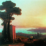 Ivan Konstantinovich Aivazovsky - Type of Constantinople with Chamlicha 1870 120h188