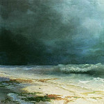 Ivan Konstantinovich Aivazovsky - ship in a storm in 1895 72h90