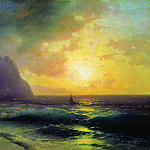Ivan Konstantinovich Aivazovsky - Sunset at Sea 1853 50h76