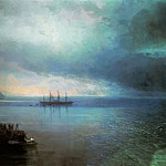 Ivan Konstantinovich Aivazovsky - From the calm to hurricane 212h708 1892