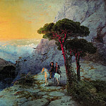 Ivan Konstantinovich Aivazovsky - A. Pushkin at the top of the Ai-Petri at sunrise 1899 135h250