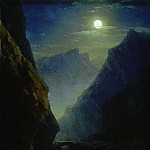 Ivan Konstantinovich Aivazovsky - Darial gorge on a moonlit night in 1868 45h36