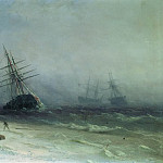 Ivan Konstantinovich Aivazovsky - Shipwreck in the North Sea in 1875 41h58