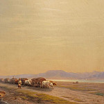 Oxen on the isthmus 1860, Ivan Konstantinovich Aivazovsky