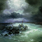 Go Jews through the Red Sea 1891 96h160, Ivan Konstantinovich Aivazovsky