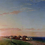 Ivan Konstantinovich Aivazovsky - waggons in the steppe