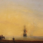 Evening. On roads, Ivan Konstantinovich Aivazovsky