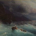 Storm on the Black Sea 1873 134h172, Ivan Konstantinovich Aivazovsky