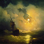 Storm on the sea at night 89h106 1849, Ivan Konstantinovich Aivazovsky
