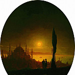 Moonlit night beside the sea in 1847 64,5 X52, 5, Ivan Konstantinovich Aivazovsky
