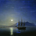 Ivan Konstantinovich Aivazovsky - Sailing off the coast of the Crimea in the moonlit night in 1858 47h64