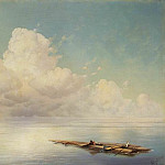cloud over the quiet sea 1877, Ivan Konstantinovich Aivazovsky