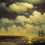 Brig Mercury after the victory over two Turkish vessels with the Russian fleet in 1848, Ivan Konstantinovich Aivazovsky