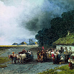 Ivan Konstantinovich Aivazovsky - Wedding in Ukraine 1892 53h80