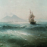 Bay of Naples. Kind of Vesuvius 1879 68h52, Ivan Konstantinovich Aivazovsky