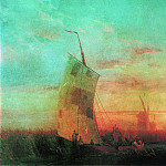 Ivan Konstantinovich Aivazovsky - reeds on the Dnieper 1857 108h161