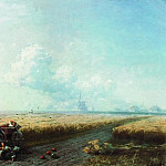During the harvest in Ukraine in 1883 57h91, Ivan Konstantinovich Aivazovsky
