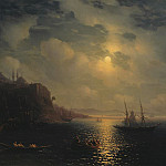 Ivan Konstantinovich Aivazovsky - Moonlit Night on the Black Sea 1873